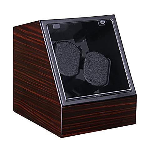 Excelvan Double Automatic Watch Winder Dual Automatic Watch Winder Luxury Automatic Watch Display Case Automatic 2 Watch Winder Rotator