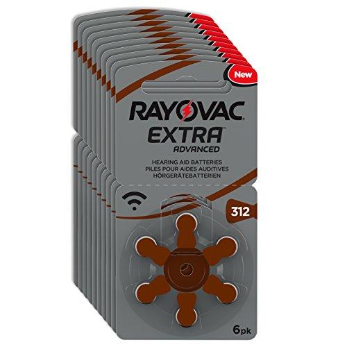 60x RAYOVAC Extra Advanced mit Active Core Technology 312 - die neuste Generation an Hörgerätebatterien