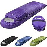 Adtrek Hood 400 - Einzelschlafsack für 3-4 Jahreszeiten - rechteckig - Lila