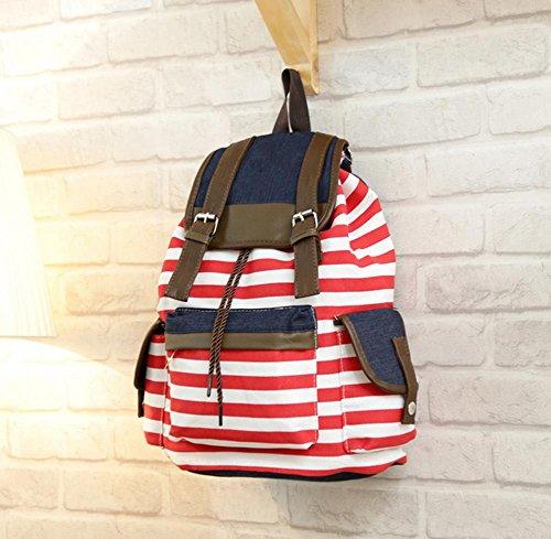 Xiuxiandianju 20L tela poliestere striscia zaino tempo libero spalla borse , red stripes red stripes
