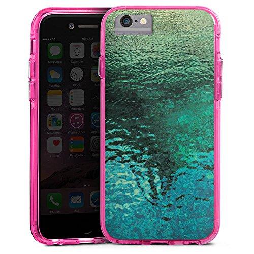 Apple iPhone 6 Bumper Hülle Bumper Case Glitzer Hülle See Sea Wasser Bumper Case transparent pink