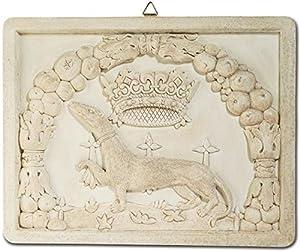Katerina Prestige Decoración de Pared, diseño de Escudo de Hermina, Color Piedra