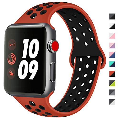 ATUP Cinturino Compatibile con Apple Watch 38mm 40mm 42mm 44mm, Cinturino in Silicone Morbido di Ricambio Compatibile con iWatch...