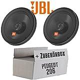 Peugeot 206 - JBL Stage 602E | 2-Wege | 16cm Koax Lautsprecher - Einbauset