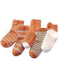 BBsmile 5 Pares Calcetines Antideslizantes para niños niñas,Unisex,Bebé calcetines ...