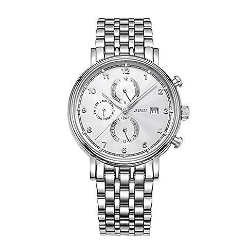 Sheli Herren-Armbanduhr Self Winding Tourbillon Uhrwerk Edelstahl Große weiße Zifferblatt, 41mm