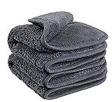Fleischmann Heavy Duty Deluxe/Superflausch Mikrofasertuch für Autopflege/Reinigungstücher Microfaser-Poliertuch Auto Putztuch Reinigungstuch Trockentuch Poliertücher/2 Stück