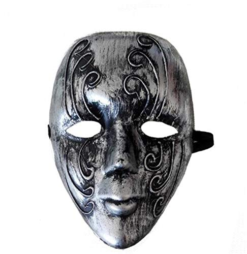 LPP Halloween-Masken, Hip-Hop-Partys Party-Grimassen LED-Licht, Kaltes Party-Fluoreszierendes Make-up Tanz-Persönlichkeit Wangenschleier
