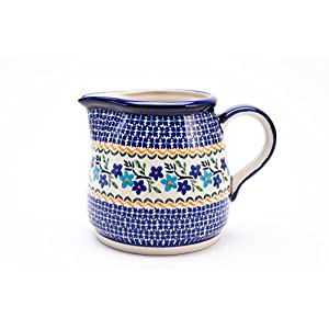 Hand-Decorated Polish Pottery Milk Jug/Water Carafe/Jug 1.2 Litres Ø18,5 cm, Height 13.5 cm, Dekor 1154 A