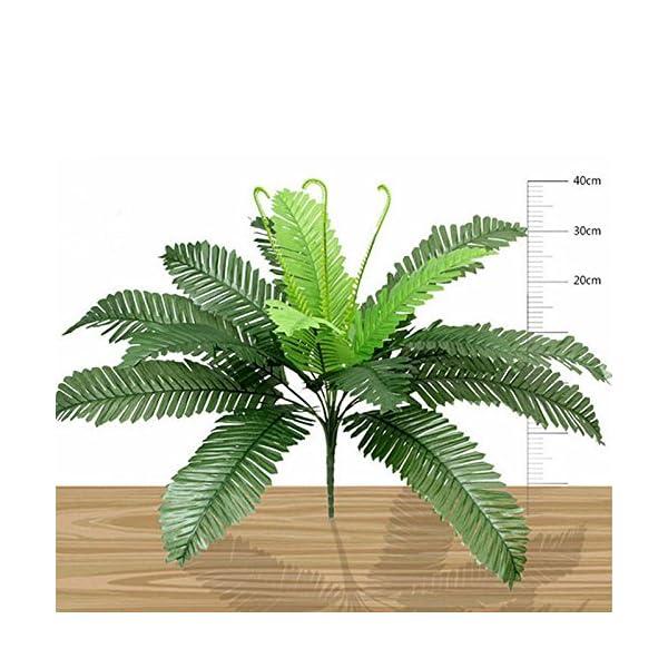Planta artificial de seda y plástico, helecho, decoración del hogar, 1 pieza