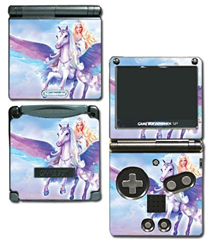 Barbie Doll Princess Unicorn Queen Tiara Video Game Vinyl Decal Skin Sticker Cover for Nintendo GBA SP Gameboy Advance System by Vinyl Skin Designs