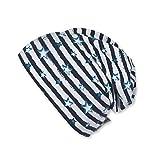 Sterntaler Slouch-Beanie für Jungen mit Streifenmuster, Alter: 18-24 Monate, Größe: 51, Blau (Marine)