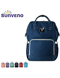 Wide Open Waterproof Baby Mummy Diaper Bag Backpack By Sunveno-Travel Bag
