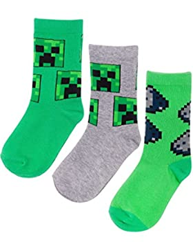 Vanilla Underground Minecraft Assorted 3 Pack Boy's Socks