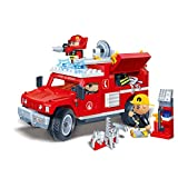 Banbao - 242 Piece Fire Jeep Compatible with the Leading Brand - Boy Boys Child Kids - Top Selling Educational Toy Game Building Construction Great Christmas Present Idea