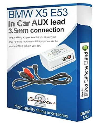 Connects2 Schnittstellenadapter-Set für BMW X5, E53, mit AUX-Anschluss, für Apple