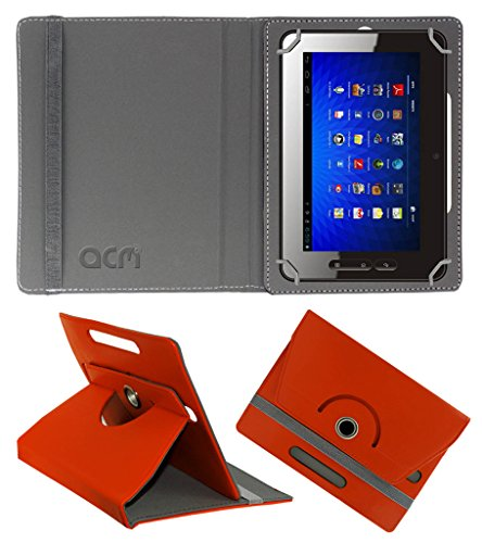 Acm Rotating 360° Leather Flip Case for Micromax Funbook P300 Cover Stand Orange  available at amazon for Rs.149