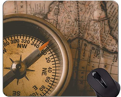 Kompass Mauspad personalisiert, Kompass Seil und Brille Kompass Gummi Mauspad