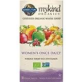 Garden of Life mykind Organics Women's Once Daily - 30 Tabletten I Multivitamin I Frauen I Früchte I Gemüse I Kräuter I Eisen I Vitamin B-12 I Bio I Vegan