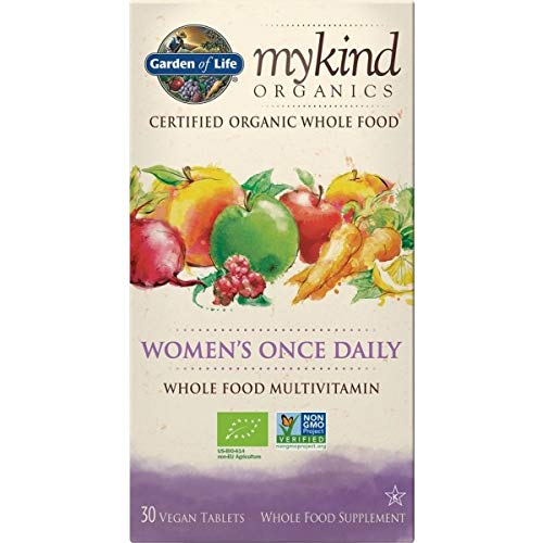 Garden of Life mykind Organics Women's Once Daily - 30 Tabletten Vegan Bio Multivitamin für Frauen