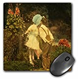 Scenes from the Past Magic Lantern Slides - First Kiss of the Spring - MousePad (mp_8500_1)