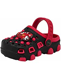 Yellow Bee Boys Clogs, Red With Monster Car (0980.RED)