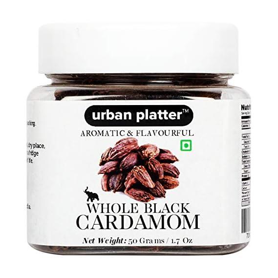 Urban Platter Whole Black Cardamom (Badi Elaichi), 50g