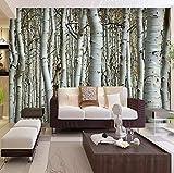 Benutzerdefinierte Tapete 3D Nahtlose Wandbild Weiße Birke Wald Wandmalerei Dekor Schlafzimmer Wohnzimmer Hintergrund Tapete Wandverkleidung