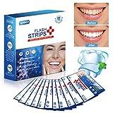 Zahnaufhellungsstreifen, Xpreen Flash White-Strips Zahnaufhellung, entfernen gelbe Flecken, Zähne Flecken, Teeflecken, Oral Teeth Whitening - Packung mit 28 Stück - Kein Bedarf an Pulver oder Gel