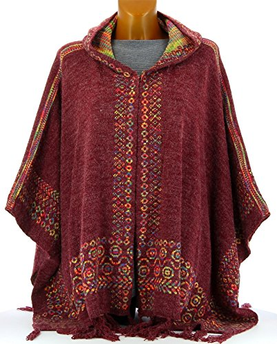 Charleselie94® - Poncho -  donna Bordeaux