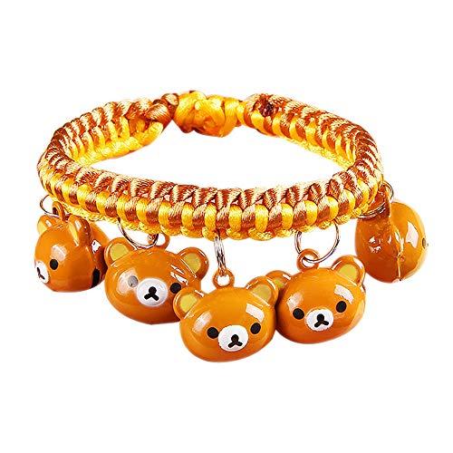 DWhui Haustier Hund/Katze Kragen mit Glocken Multily Designs gewebtes Schlüsselband verstellbare abreißbare Haustier Halsbänder für kleine/mittlere/große Hunde,#1,S