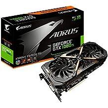 GIGABYTE AORUS GTX 1080 Ti Xtreme 11Gb - Tarjeta gráfica (NVIDIA, GeForce GTX 1080 Ti Xtreme 11Gb, 1746 MHz, 2-Way SLI)