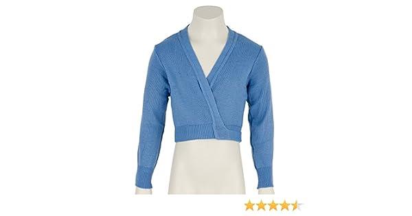 Girls Childrens ISTD Sky Blue Ballet Dance Crossover Cardigan All Sizes By Katz