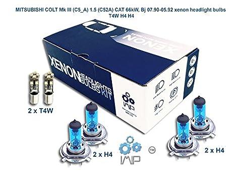 MITSUBISHI COLT Mk III C5_A 1.5 C52A CAT 66kW, Bj 07.90-05.92 Lampe frontale au xénon T4W H4 H4