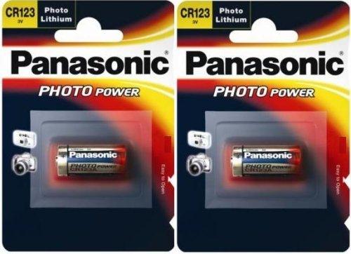 Panasonic CR123 Batterien-Pack, 2 Stück