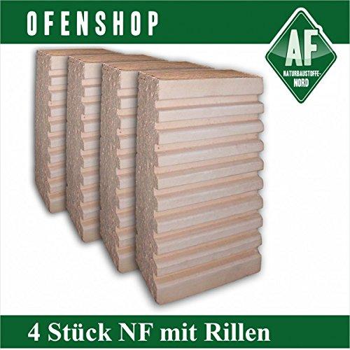 NF mit Rillen 4 Stk Rillensteine Grill Schamott Kachelofen Schamotte