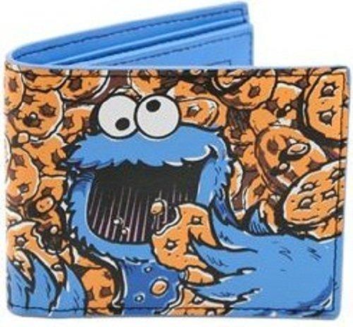 Sesamstrasse Krümelmonster Geldbeutel Cookie Monster Wallet - Geldbörse Elmo