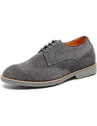 CHAMARIPA Zapatos Brogues Gamuza para Hombre para ser 7 cm más Alto - L61C20K013D
