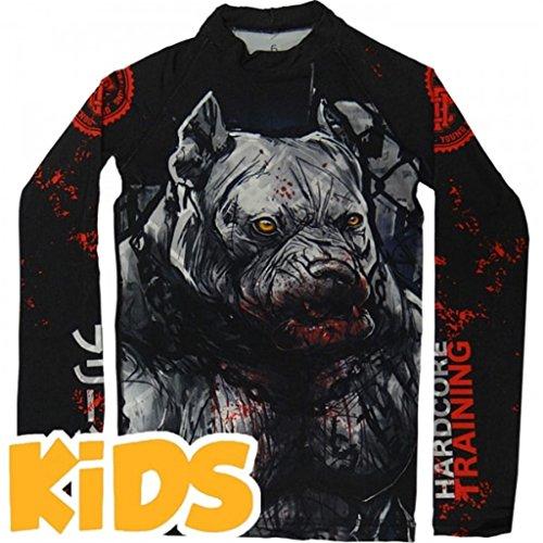Hardcore Training Kids Rash Guard Pitbull City-10 Years Kompressionsshirt Kinder