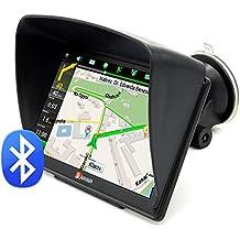 Junsun GPS Navigatore Touchscreen Capacitivo per Auto FM 8GB/128MB Bluetooth con Mappa Italia e Europa Centrale Aggiornamento a Vita e Infotraffico con Protezione Antiriflesso