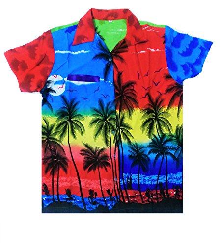 Camisa-hawaiana-para-hombre-diseo-de-palmeras-para-la-playa-fiestas-verano-y-vacaciones-XL