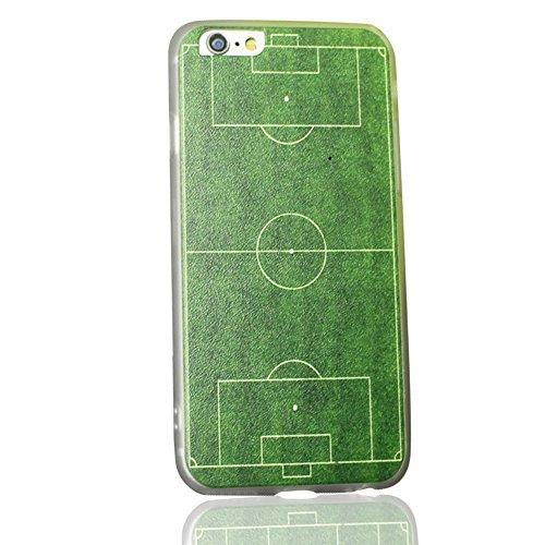 Uming® Copertura di caso della TPU colorful soft modello della stampa Case Cover ( Silk - football field - per IPhone 6 6S IPhone6S IPhone6 ) Sacchetto di caso della copertura della protezione del silicone del telefono
