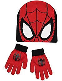 Spiderman Hat Gloves Boys Winter Set Ages 4-8 Years