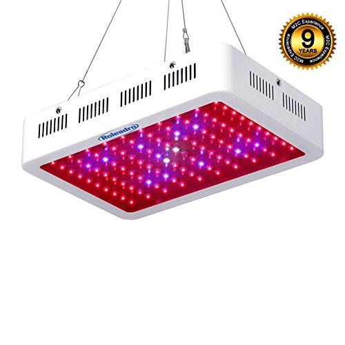 Roleadro LED Horticole Lampe 300W Lampe de Croissance et LED Floraison Horticole pour Plante Culture Indoor avec IR UV Lumière 308*208*60mm