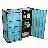 Werkhaus - Wandschränkchen Medizinschrank in Container-Optik, Türkis, 37x37x15cm (CO1803)