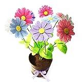 YSZ Künstliche Gänseblümchen Frühlingsblumen für Muttertag Geschenk Künstliche Pflanzen Indoor Topf Dekorationen für Schreibtisch (Coloful Daisy Miniatur Bäume) Nonwoven Tuch DIY Rohmaterial, Kunst Handwerk Floral, 30 * 25 * 15cm