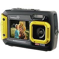 Fotocamera e Videocamera digitale 20MP Ivation subacquea resistente a shock con doppio display a colori LCD – interamente subacquea e adatta alle immersioni fino a 10 piedi - giallo