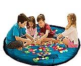 Tragbare Kinder Spielen Matte und Aufbewahrungstasche Baby Spielzeug Organizer Bin Box für Lego Bausteine ??Duplo Blue