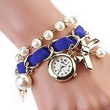 #9: Rrimin New Fashion Casual Bracelet Wristwatches Ladies Classic Watch Blue