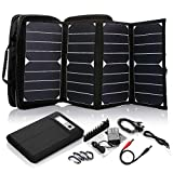 ECEEN Solar Panel, 10Watts Solar Charger with Unique Zipper Pack Design for iPhone, iPad, iPods, Samsung, Android Smartphones and More (26W Laptop Solar Charger)